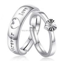 2015 adjustable diamond 925 sterling silver engegament ring