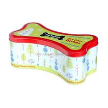 Factory Price Bone Shape Tin Box custom metal tin box