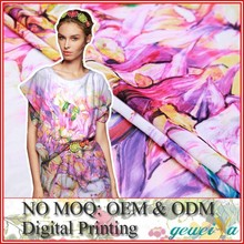 No MOQ Custom Digital Printed Georgette Silk Fabric