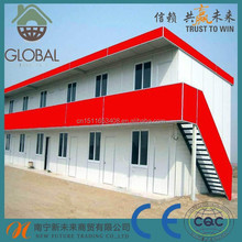 Customized color prefab duplex house from China