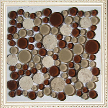 2015 Wonderful Design Glass Mosaic with Core Round Shaped From China
