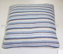 Cojines tejidos decorativos cuadrados líneas y tiras, cojines decorativos, almohadas y cojines, funda de cojines
