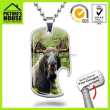 high quality silver dog tag bottle opener necklaces