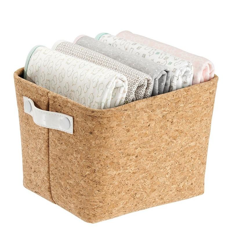 Natural Cork Fabric Storage Bin (4).jpg