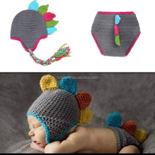 Infant Shooting Costume Prop Handmade Baby Boy Crochet Hat Cap Set