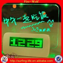 3D Crystal Laser Engraving Gifts Alarm Clock Alibaba Led Clock With Big Screen