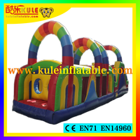 Kule inflatable obstacle course for sale inflatable rainbow obstacle course kids obstacle course equipment