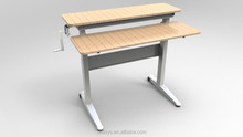 China Dual-worktop Wood Material and Commercial Furniture General Use Drawing Desk