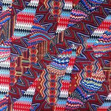 2015 Geometric patterns weft knitting printed fabric