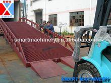 Acero 8t camión rampa, rampa hidráulica para camión