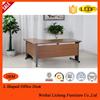 L shaped metal legs office desk/commercial furniture desk