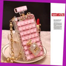 for iPhone6/plus Crystal perfume bottles Phone Case for Samsung mobile phone shell perfume bottles Czech drilling perfume b