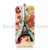 3D Eiffel Tower Blue-ray IMD Soft TPU Case for iPhone 5S 5 with a Strap