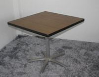 Heavy Duty Folding HPL Square Buffet Table 8 seaters