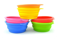 Wholesale FDA LFGB Standard Food grade Eco-friendly folding silicone unbreakable dishes for dog