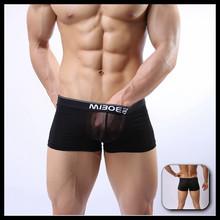 Recién llegado de Nylon transparente ropa interior para hombre calzoncillos para hombre hombres atractivos