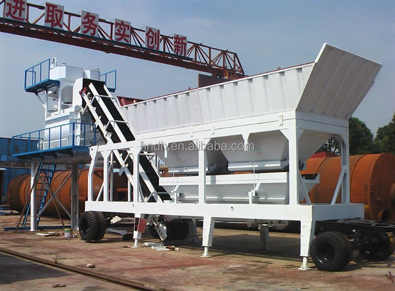 Mini Batching Plant : Yhzs series concrete batching mixing plant price mini