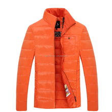 Classic mens down jacket for motorcycle outdoor wear Cutomize duck feather filling winter slim fit overcoat