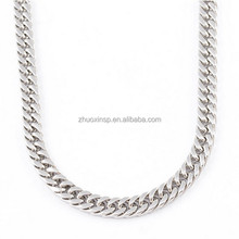 For men Fashion stainless steel 2,4,6 side/face grind Double Cuban Link Chain