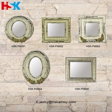 Poly Resin Mirror Frames with Imitated Old-fashioned Wood