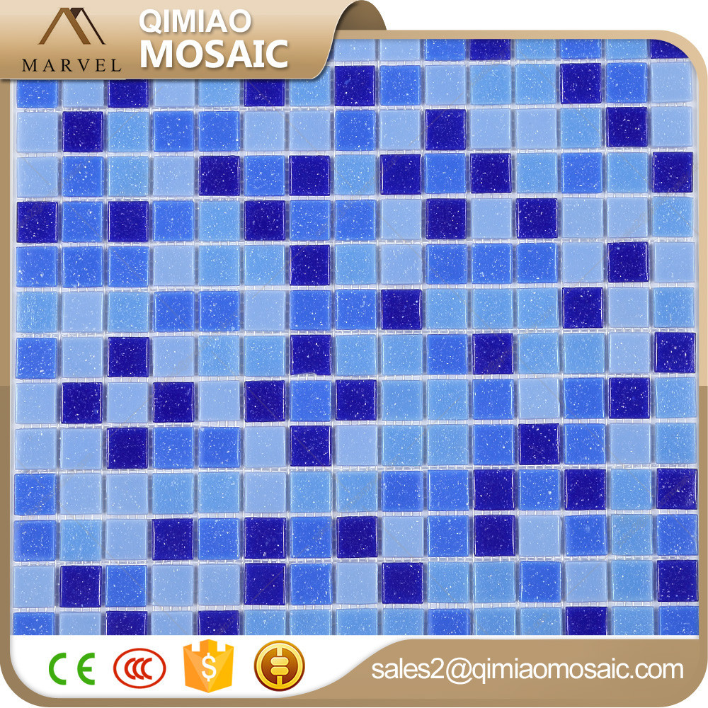 Construction building materials art glass mosaic for swimming pool tiles for Swimming pool construction materials