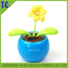car decoration flip flap solar flower/apple flower