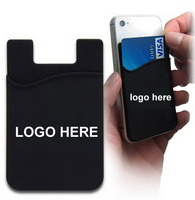 Custom silicone mobile phone card holder, silicone mobile phone pocket