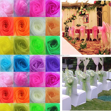 20*275cm In Stock Wedding Organza Sashes Sash Party Banquet Decoration Bow Colours Chair Cover