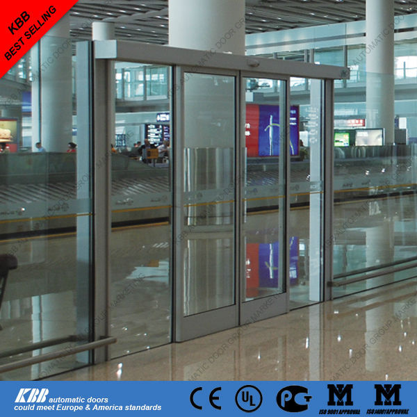 Automatic stainless steel frame glass sliding door design