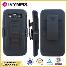 IVYMAX cell phone cases manufacturer combo robot case for samsung galaxy e5