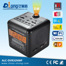 FM/AM Radio / Alarm clock / Wired wifi Ip camera CCD sensor with invisible night vision