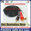 3.5mm mini aux stereo plug to 2 rca hook computer to stereo aux audio cable