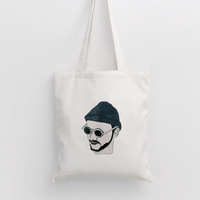 TT0070-1 Reshine Zipper Closure Wholesale Men Design 12oz Cotton Canvas Tote Bag