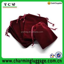 Dark Red 12x10cm Velvet Drawstring Pouches Jewelry Gift Bags