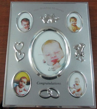 Wholesale Bulk Silver Plated Elegant 5 Collage Table Our Wedding Memories Aluminium Picture Photo Frame