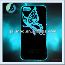 ultrathin hard TPU material Butterfly LED phone case for iphone 5