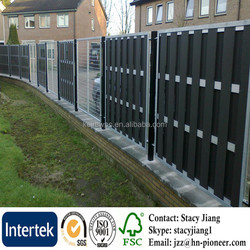 Europe Popular Anti-UV Waterproof Wood Plastic Composite Fence Exterior Garden WPC Fencing