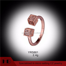 new arrival two blockages open rings rose gold jewelry