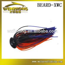 WZ XWC negro cabeza de la plantilla de silicona faldas de pesca de agua salada señuelos jigging