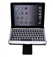 For iPad 2 3 4 Aluminum Ultra Thin Wireless Bluetooth KeyBoard Stand Case Cover