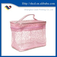 vinyl pvc lace bag/ mesh pvc bag/ makeup bag