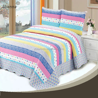 Fashion Design shiny rainbow color bedding set for teenagers