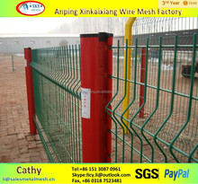low price pvc coated triangle bending fence for protection
