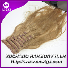 "Harmony new clips in human hair with lace attached, 20"" more colors on stock"