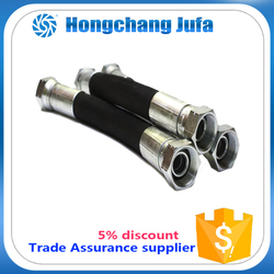 sae din standard stainless steel wire braided hydraulic rubber hose