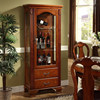 MDF modern wood display cabinet with glass