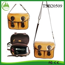 2015 New Design Wholesale Fashion Photo box Shoulder Dslr Leather Camera Bag