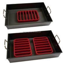 Comercio aseguramiento de silicona barbacoa asar estante, pollo asar estante, de silicona de la rejilla del horno