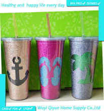 22OZ high quality AS hard plastic cups by printing machine,thick bottom glass tumbler