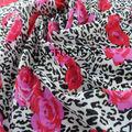 Rosa patrón impreso tinte de tela de nylon para swimweaar de la muchacha